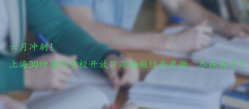 上海30所国际学校开放日及插班
